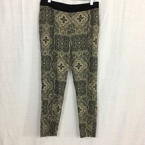 MaxMara Weekend Black and Tan Patterned Trousers
